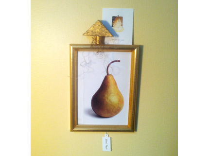 Framed Bosc Pear